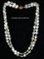 Freshwater Pearl and 18k Gold