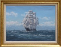 Clipper Ship Lightning in the Roaring Forties