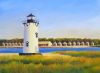 Edgartown Light and the Chappy Beach Club