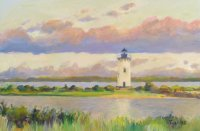Edgartown Light at Dusk