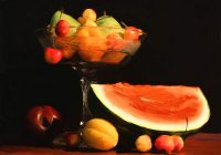 Fruit Bowl and Watermelon