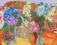 Tisbury Market Place Flowers Oil Painting Series #3
