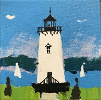 Lighthouse #1 6 x 6