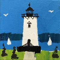 Lighthouse #2 6 x 6