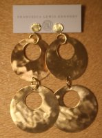 Bold Brass Double Hoops with Vermeil Tops