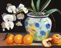 Oranges with Orchids