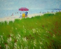 Red Umbrella, Oak Bluffs Beach