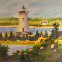 Edgartown Lighthouse with Roses