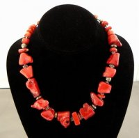 Coral Beads with Sterling Bali Bead Spacers