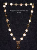 Chapagne Pearl and Quartz Necklace