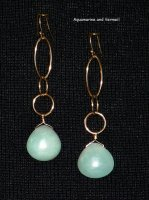 Aquamarine and Vermeil Earrings