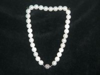 Mother of Pearl and Rhinestone Necklace