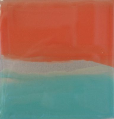 Charyl Weissbach - Metalscapes - Apricot - Aqua