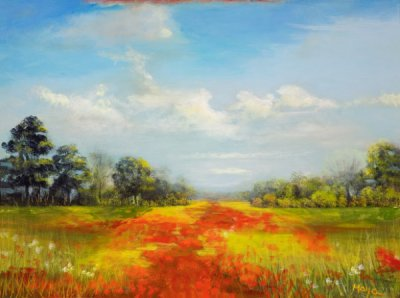 Maya Farber - Field of Poppies