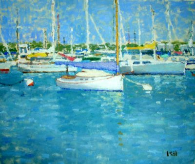 Kate Huntington - Boats in the Harbor #3