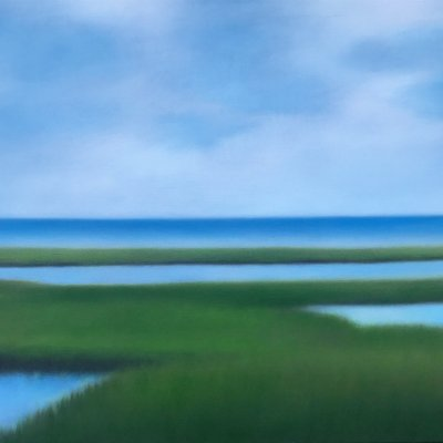 Christie Scheele - Saltmarsh with Soft Sky