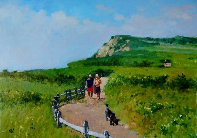 Kate Huntington - Summer Walk at Aquinnah