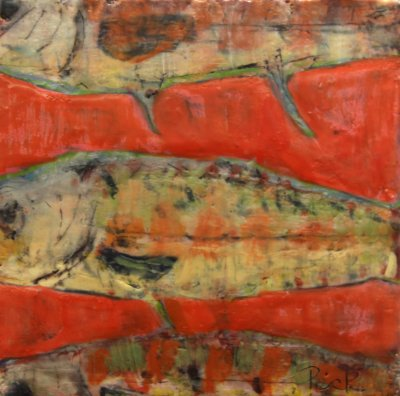 Adair Peck - River Trout on Red