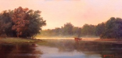 Paul Beebe  - Morning Mist, on Lagoon Pond
