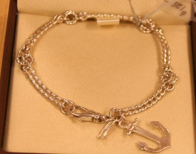 Karen English-Malin - Sterling Silver Double Strand Mariners Bracelet