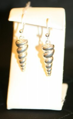Karen English-Malin - Sterling Silver Shell Earrings