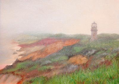 Susan Cahoon - Gay Head in Fog